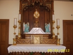 St. Joseph Altar the day of Bishop Doran's blessing